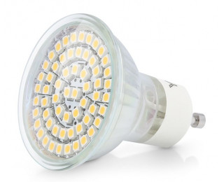 Gu10 led lamp 3 5 watt 60 smd vervangt 35 40w q elektro for Led lampen 0 5 watt